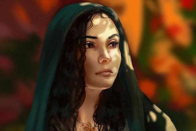 нарисую портрет ч/б 1 - kwork.ru