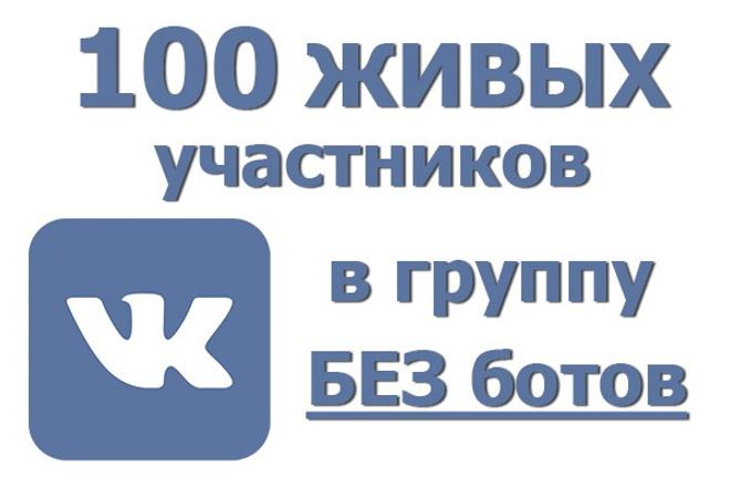 За день 100 живых участников в группу ВК. Только люди вручную, никаких ботов 1 - kwork.ru