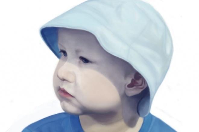 Нарисую цифровой портрет с фотографииИллюстрации и рисунки<br>нарисую Ваш портрет в фотошопе, стремясь к максимальной реалистичности изображения. формат А5, А4 или А3.<br>