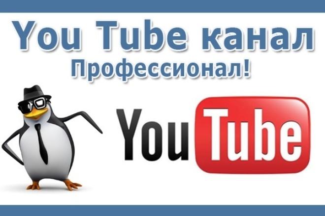 Помогу создать канал на Youtube, раскрутить и заработать 1 - kwork.ru