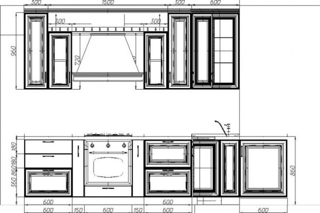 Создам проект корпусной мебелиМебель и дизайн интерьера<br>Создам проект любой корпусной мебели, кухню, шкаф-купе, гардеробные, детские, торговое оборудование и др. по вашим размерам. В кворке эскиз, чертеж, деталировка, карта раскроя одного комплекта мебели.<br>