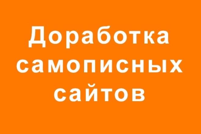 Доработка, исправление самописных сайтов 1 - kwork.ru
