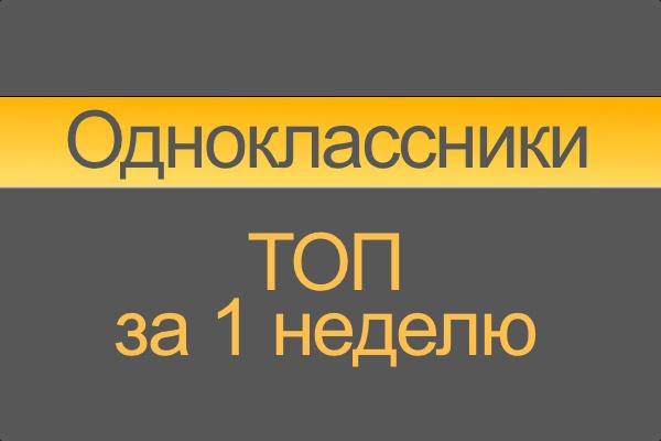 Научу выходить в ТОП одноклассники за 1 неделю odnoklassniki 1 - kwork.ru