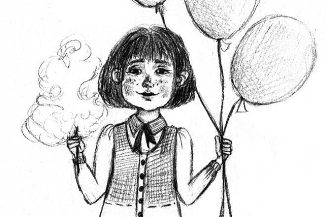 Сделаю иллюстрацию в авторском стилеИллюстрации и рисунки<br>Здравствуйте, если вам нужно создать качественную иллюстрацию в приятном стиле обращайтесь ко мне. Выполню задание качественно и оперативно, работаю в традиционной технике, рисую карандашом на бумаге. Качественно обработаю изображение в нужном вам разрешение и формате. Один кворк включает в себя одно несложное изображение различной тематики.<br>