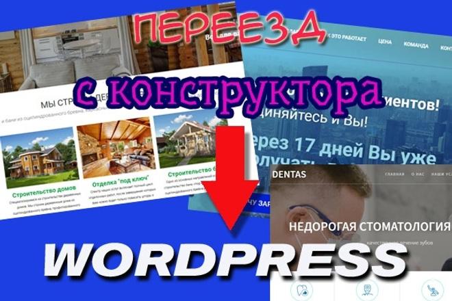 Перенесу ваш сайт с конструктора на wordpress 1 - kwork.ru