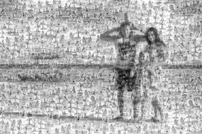 сделаю фотоколлаж в виде мозайки 1 - kwork.ru