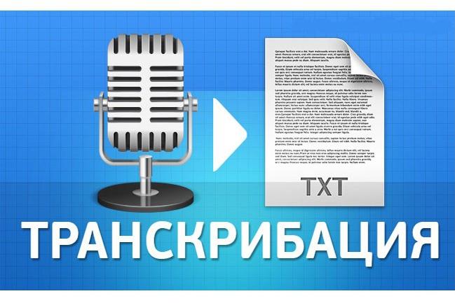 Расшифровка аудио- и видеоматериалов 1 - kwork.ru