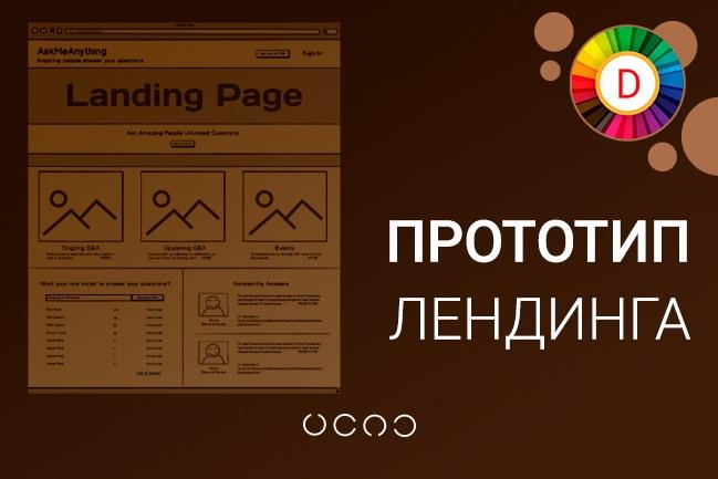 Создам прототип лендинга 1 - kwork.ru