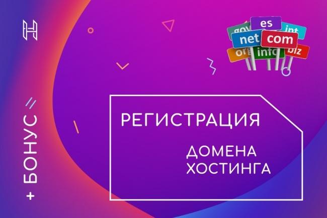 Регистрация домена и хостинга, подбор CMS 1 - kwork.ru