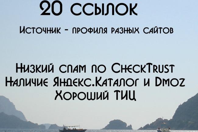 20 ссылок с профилей 1 - kwork.ru