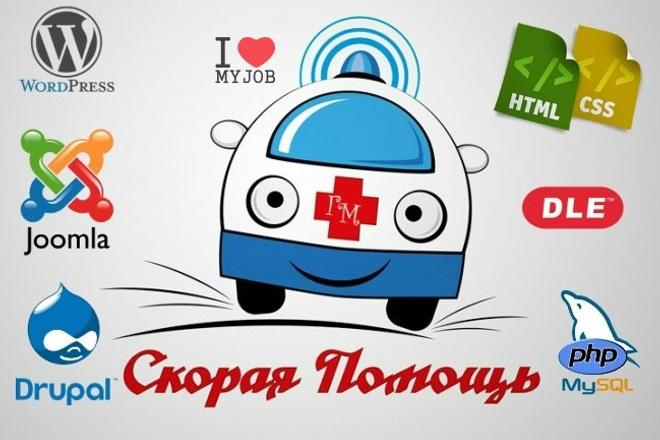 Скорая помощь для сайтов - Wordpress, Joomla, DLE 1 - kwork.ru