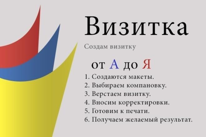 Создам визитку 1 - kwork.ru