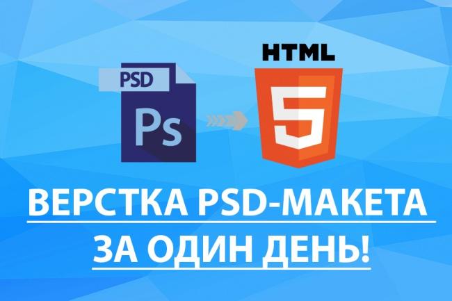Сверстаю PSD-макет вашего сайта всего за один день 1 - kwork.ru