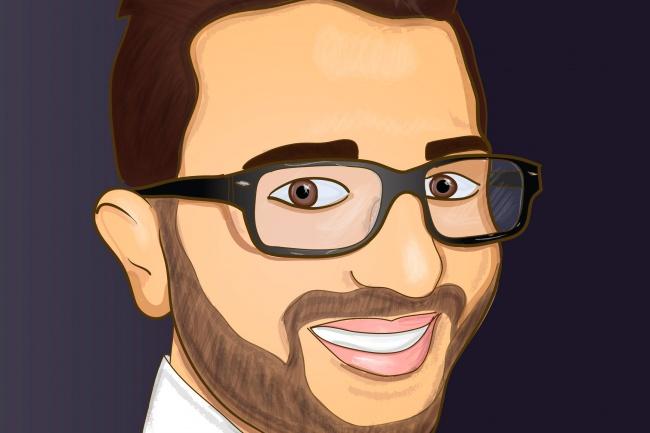 Нарисую Портрет в мультяшном стиле 1 - kwork.ru