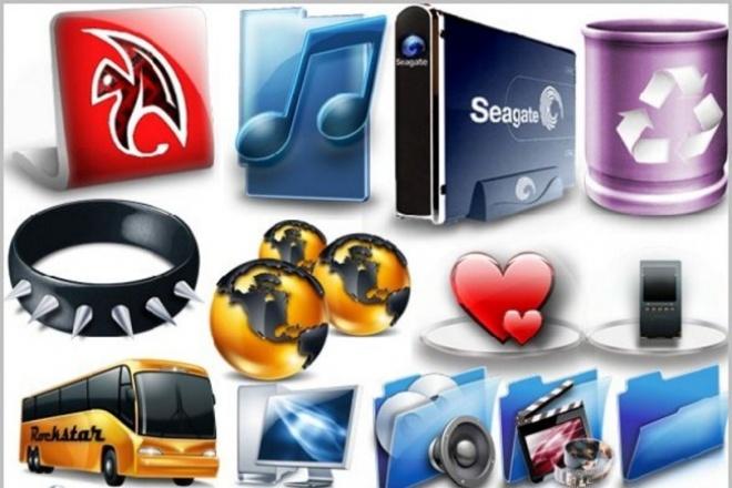 Иконки  5 Гб  + Фоновые изображения 8 Гб для вашего сайта 1 - kwork.ru