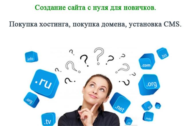 Покупка хостинга, домена, установка CMS 1 - kwork.ru