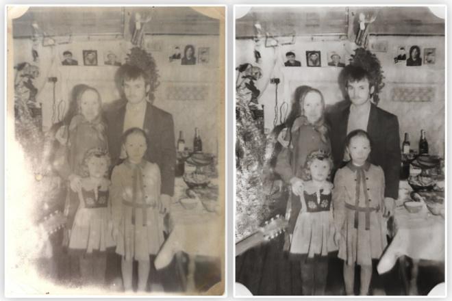Восстановлю поврежденные фотоОбработка изображений<br>Восстановлю поврежденные фото. Трещины, изломы, порезы, потерянные детали, выцветшее фото - все исправлю<br>