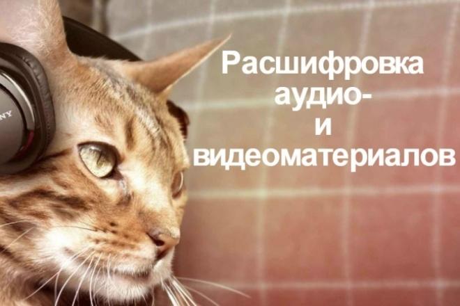Расшифрую аудио- и видеоматериалы 1 - kwork.ru