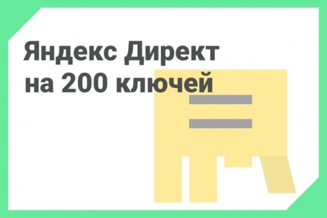 Яндекс Директ под ключ, 200 ключей на поиск 1 - kwork.ru