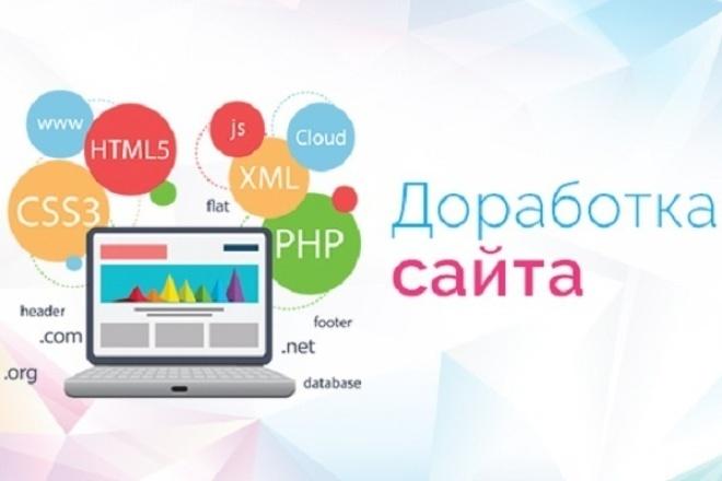 Доработка сайтов любой сложности 1 - kwork.ru
