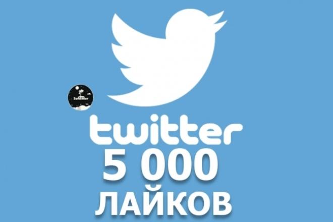Лайки Твиттер 5000Продвижение в социальных сетях<br>Сделаем для вас 5000 лайков на вашу запись в твиттере всего лишь за 500 рублей (1 кворк). Заказ можно разделить на несколько частей (мах 10), например, 10 записей по 500 лайков.<br>