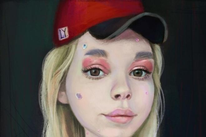 Стилизованный портрет, шарж 1 - kwork.ru