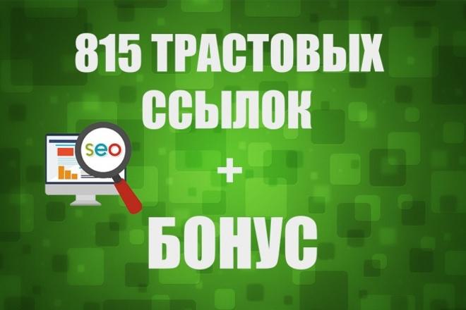 900 вечных трастовых ссылок 1 - kwork.ru