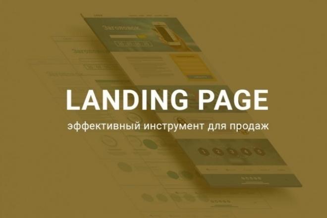 Сделаю одностраничный сайт, Landing Page, сайта на Wordpress 1 - kwork.ru