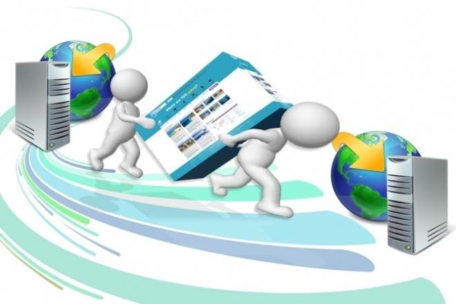Перенесу сайт с хостинга на хостинг 1 - kwork.ru