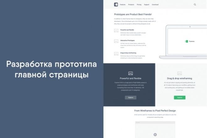 Разработка прототипа главной страницы 1 - kwork.ru