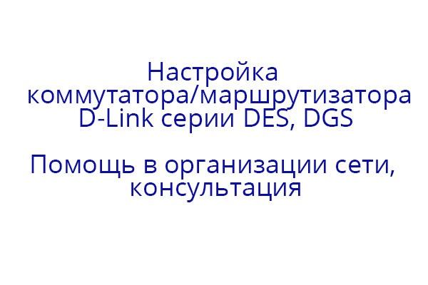 Настройка коммутаторов/маршрутизаторов D-Link 1 - kwork.ru