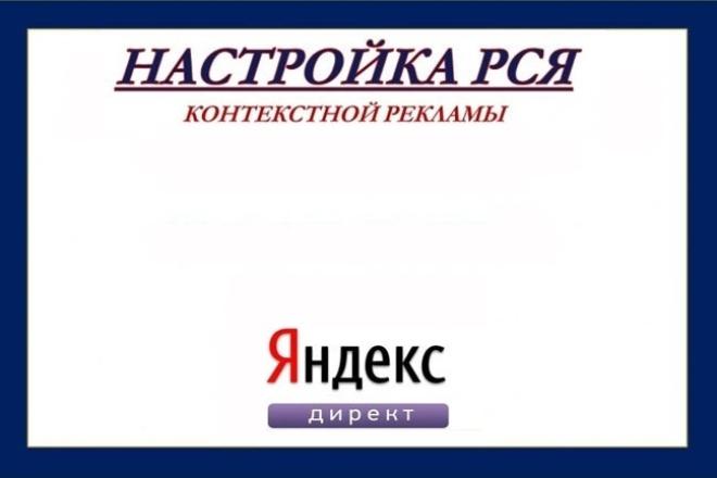 Настрою контекстную рекламу РСЯ 1 - kwork.ru