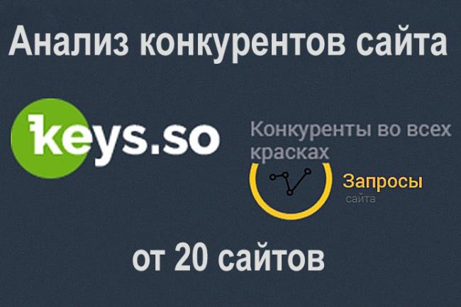 Выгрузка ключевых слов 20-ти ваших конкурентов 1 - kwork.ru