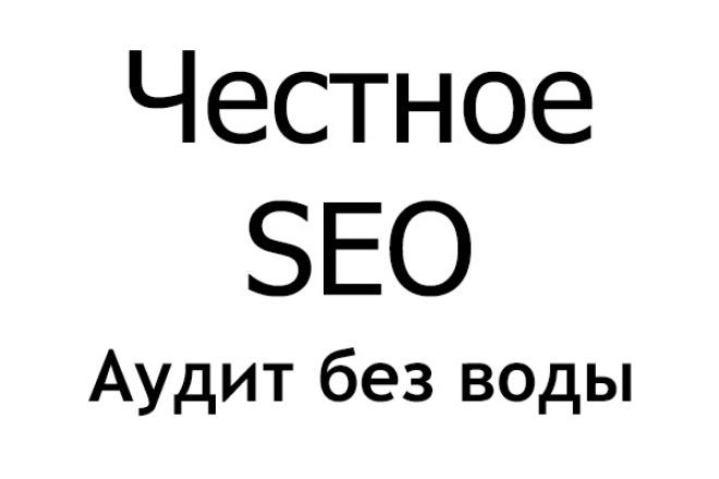 Экспресс SEO аудит Вашего сайта 1 - kwork.ru