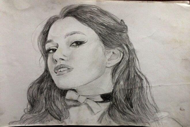 Нарисую Ваш портрет карандаш, сепия, цвет 1 - kwork.ru