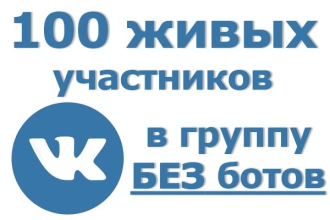100 живых участников в группу ВК. Только люди вручную, никаких ботов 1 - kwork.ru