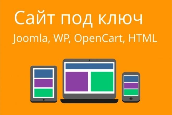 Сайт под ключ. Joomla, WP, OpenCart, html, дизайн, верстка, настройка 1 - kwork.ru