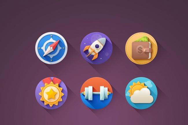 Сделаю 6 иконок для сайта 1 - kwork.ru