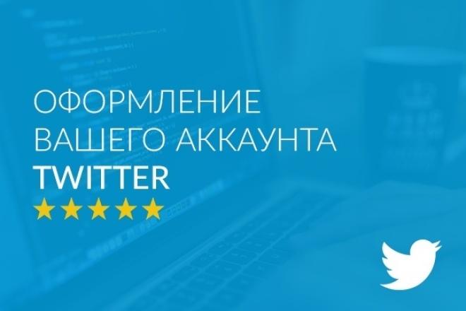 Оформление вашего аккаунта в Twitter 1 - kwork.ru