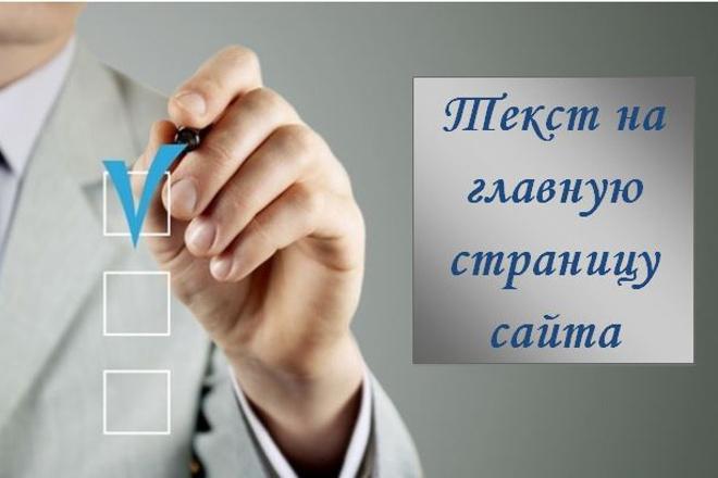 Напишу текст на главную страницу вашего сайта 1 - kwork.ru