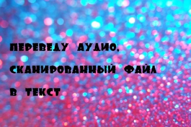 сделаю транскрибацию аудиофайла, наберу текст со сканов,фотографий 1 - kwork.ru