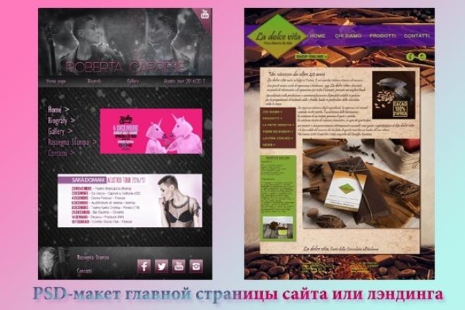 PSD-макет главной страницы сайта или лэндинга 1 - kwork.ru