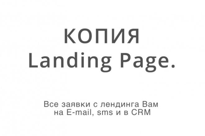 Сделаю копию лендинга и настрою формы заказа и обратного звонка 1 - kwork.ru