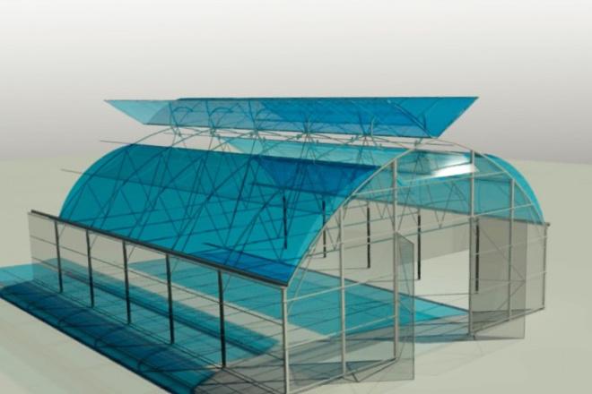 3D модель теплицыФлеш и 3D-графика<br>Модель теплицы для выращивания растений. С покрытием СПК или плёнкой. Теплица любого размера и геометрии<br>