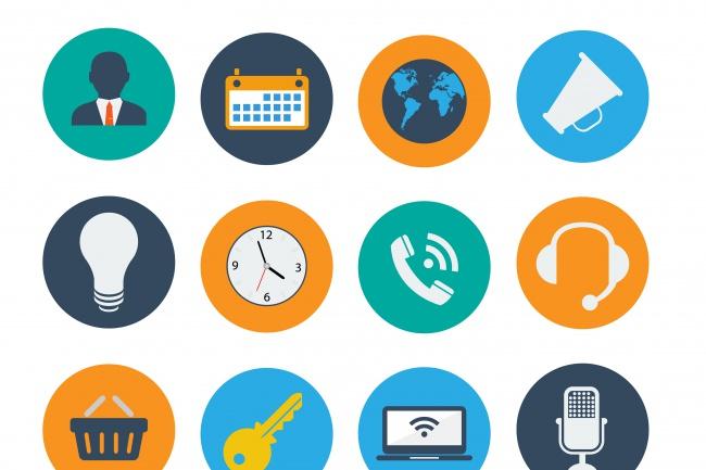 Сделаю 6 любых иконок для сайтовБаннеры и иконки<br>Сделаю 6 иконок для ваших сайтов. Я вас уверяю что сделаю все качественно и приятно. Сделаю на ваш вкус.<br>