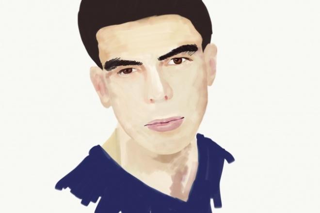 Дижитал портрет по фото 1 - kwork.ru