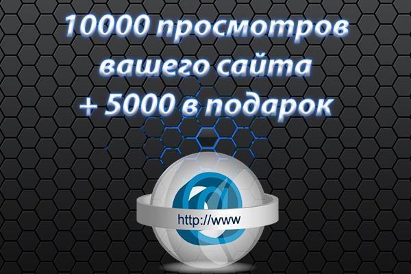 10000 просмотров вашего сайта +5000 в подарок 1 - kwork.ru