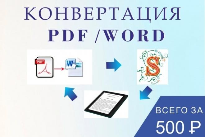 Создание электронной книги. Редактирование, конвертация word в pdfРедактирование и корректура<br>В этом кворке вы можете: Заказать макет электронной книги. Отредактировать pdf-файл, Конвертировать файл из pdf-a в Word. Кроме того, мы можем разработать для вас: индивидуальный дизайн книги, подобрать типографские шрифты, сделать дизайн обложки.<br>