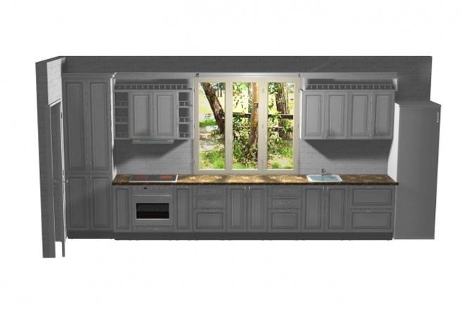 Создам дизайн-проект любой корпусной мебели по вашим размерамМебель и дизайн интерьера<br>Дизайн проект корпусной мебели по вашим размерам и пожеланиям. Кухни, прихожие, спальни, стеллажи, стенки.<br>