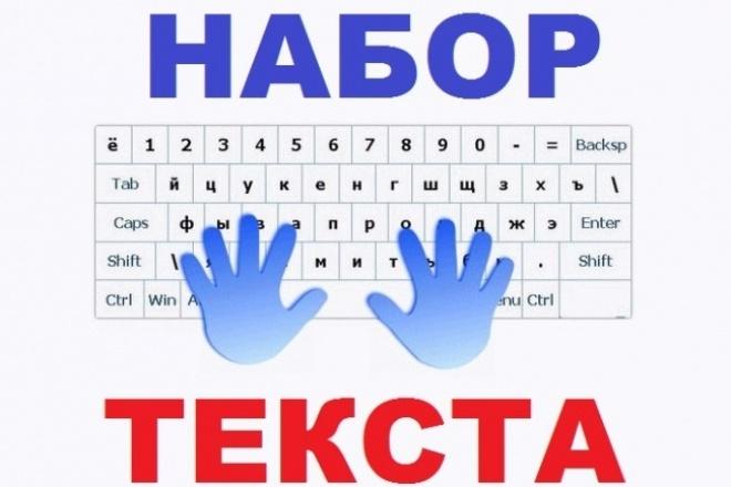 Наберу текстНабор текста<br>Наберу текст со скана или фото, а также проверю на ошибки. Почерк на фото может быть машинным, или ручным (главное, чтобы почерк был разборчивым!) Скан или фото нужно отправить мне, и сказать, в каком документе нужно набирать текст (форматы .doc или .txt), а также рассказать какой должен быть шрифт, размер шрифта и т.д.<br>